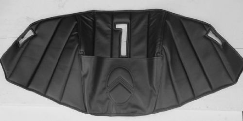 Engine cover upholstery - black, with pocket